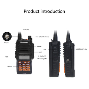Image 2 - Baofeng Walkie Talkie UV 9R Plus, resistente al agua, 8W, UHF, VHF, banda Dual, 136 174/400 520MHz, Ham CB, Radio FM, escáner transceptor