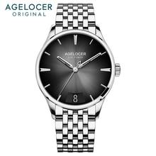 Relogio Masculino AGELOCER Business Mens Watches Swiss Top Brand Luxury 316L Steel Mechanical Clock Waterproof 40mm Watch Men