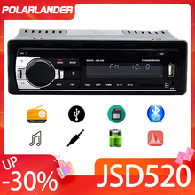 Radio Estéreo 1 DIN con mando a distancia para coche, reproductor de MP3 EQ múltiple, WMA, WAV, 12V, reproductor MP3, FM, SD, USB, AUX, Bluetooth, Audio estéreo