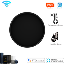 Tuya Smart Universal IR Remote WiFi With Temperature Humidity Sensor for Air Conditioner TV AC Works with Alexa,Google Home