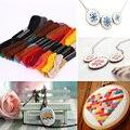 24 смесь цветов нить для ручной вышивки нить шитье, моток пряжи Ремесло Вязание спирей швейные инструменты для вышивки крестом аксессуары