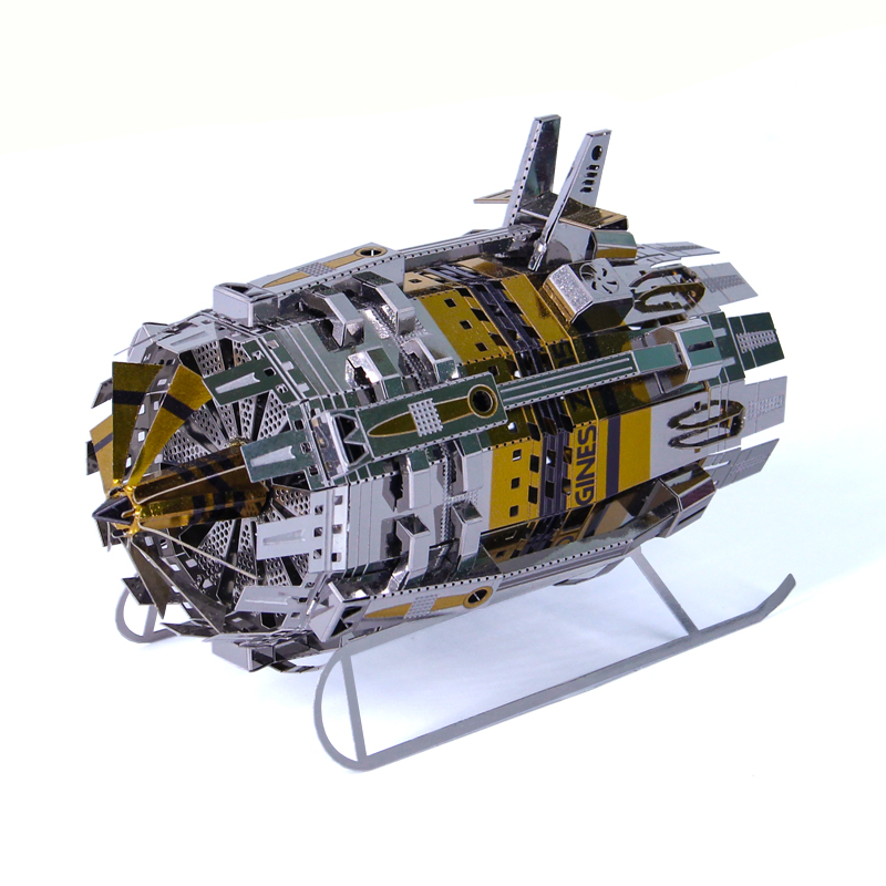 Microworld New Model Power Engine Machine Model DIY Laser Cut Jigsaw Puzzle Machine Model 3D Metal Puzzle Toys Gifts For Kids