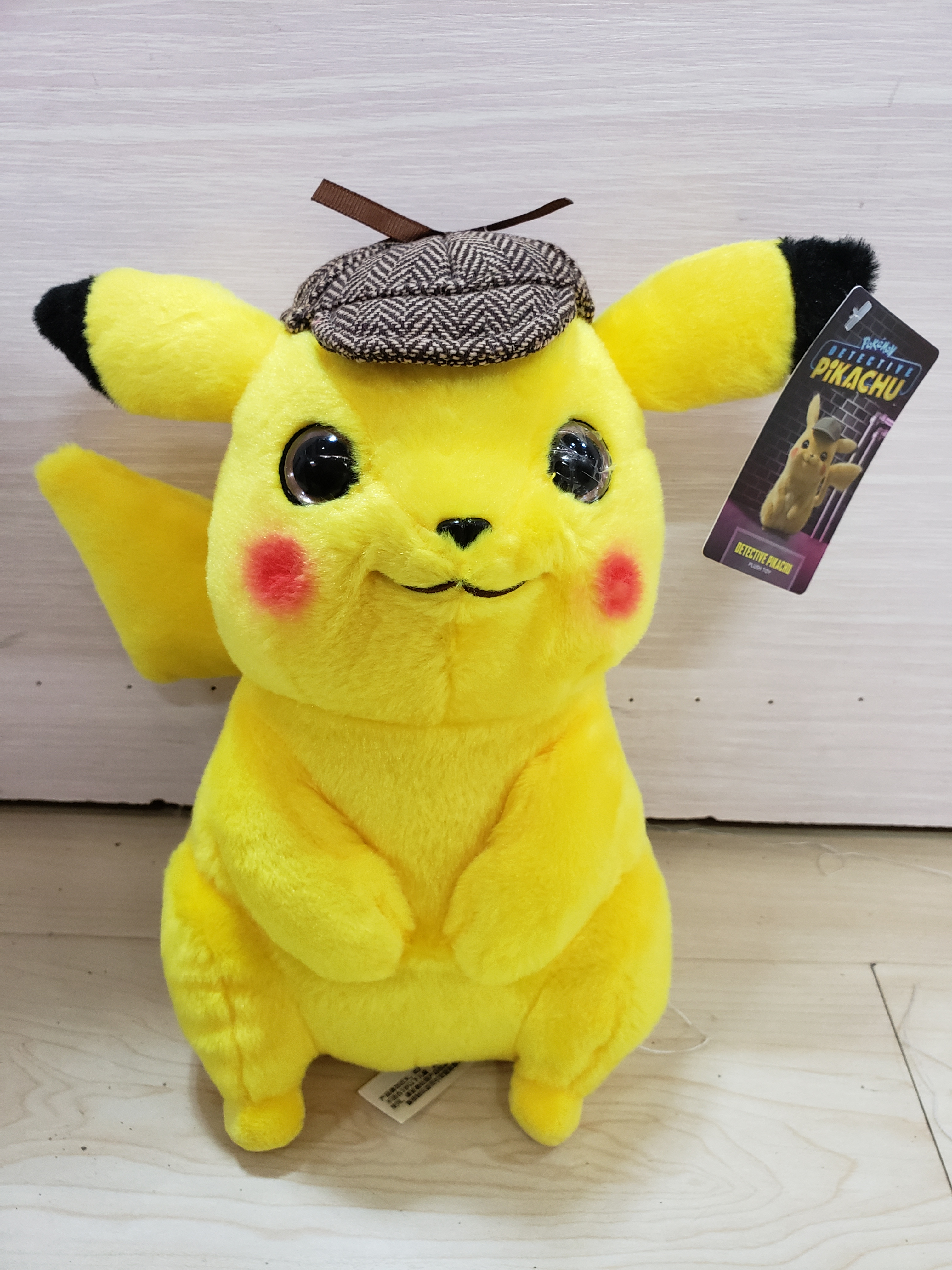 Image 2 - 2019 new 25/30/35cm Detective Pikachu Plush Toy High Quality Cute Anime Plush Toys Childrens Gift Toy Kids Cartoon Peluche-in Stuffed & Plush Animals from Toys & Hobbies