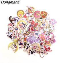 L3054 56pcs/set Sailor Moon Skateboard Graffiti Laptop badge Motorcycle Luggage Bags Accessories graffiti moon