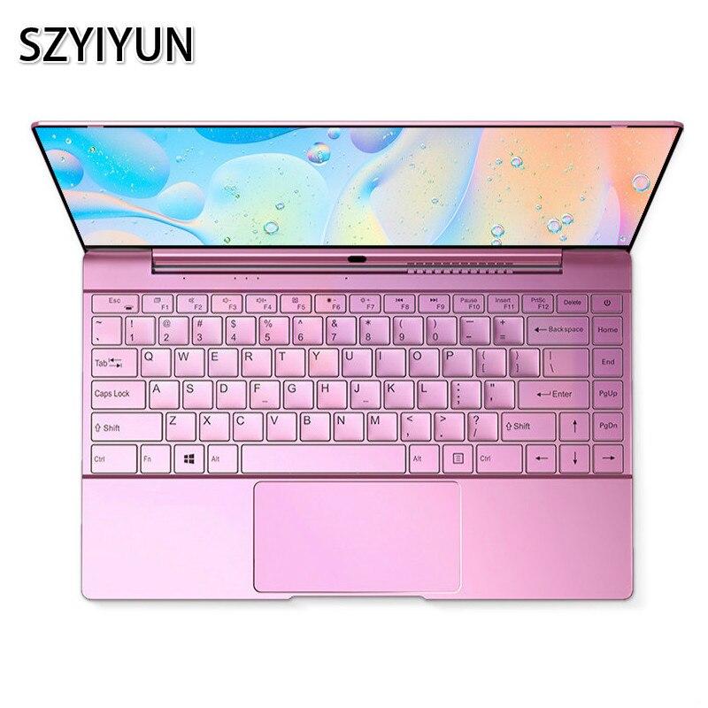 I7-6500U 14 Inch Slim Laptop Sakura Pink Metal Women Notebook Portable Business Office PC Computer 2020 New Mini Student Netbook