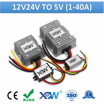 XWST DC 12v 24v to 5v Voltage Converter 1A 2A 3A 5A 10A 15A 20A 25A 30A 40A Step Up Down Buck Reducer - sale item Electrical Equipment & Supplies