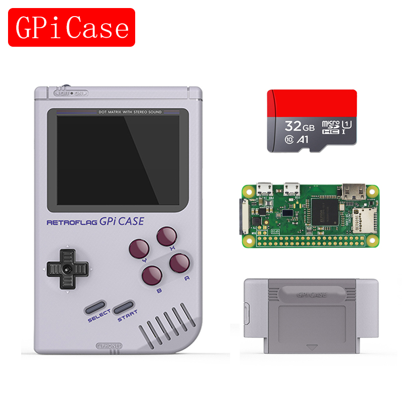 Mais recente kit Caso Raspberry Pi Zero W Retroflag GPi com Zero V1.3 Desligamento Seguro para Raspberry Pi para Raspberry Pi zero W