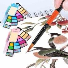 18 цветов s Твердый пигмент набор сплошной цвет набор Пигментных красок набор с акварелью канцелярские принадлежности для граффити ремесла Перманентный