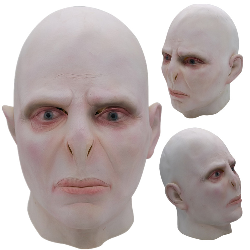Lord Voldemort Latex Mask Cosplay Masks Fancy Dress Halloween Costume Props