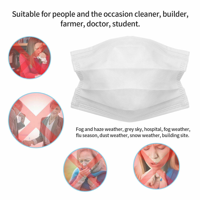 Face Mask 20/30/50 PCS Respirator Disposable Mouth Masks 3 Layer FFP3 Elastic Earloop Masks Filter Dustproof Earloop Non Woven