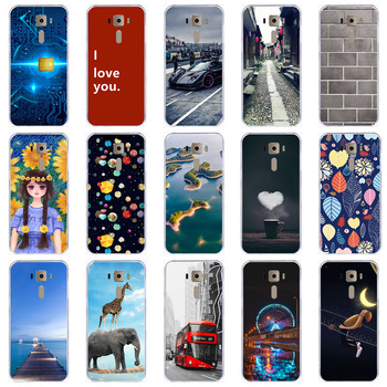 Lamocase Phone Case For Asus ZenFone 3 ZE520KL Z017DA ZE ZE520 520 520KL KL Cute Cartoon Anima Painted Cover image