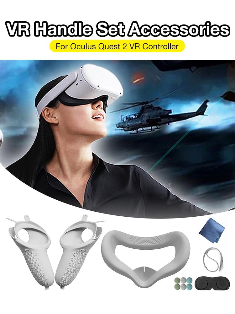 Аксессуары для виртуальной реальности Защитный лицевой чехол для Oculus Quest 2 Ремешок на кулак для Oculus Quest 2 Чехол для сенсорного контроллера VR с...