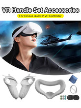 Accessories vr protective cover oculus quest 2 strap for oculus quest 2 vr touch controller case with knuckle grip grip for oculus quest 2 Quest 2 pulseira olho olho olho Quest Quest 2 Halo 2 Straps