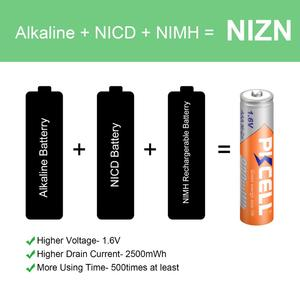Image 4 - 10 pièces PKCELL 1.6V 900mWh Nickel Zinc ni zn AAA batterie Rechargeable NIZN batterie Rechargeable pour appareil photo numérique, lampe de poche, jouet