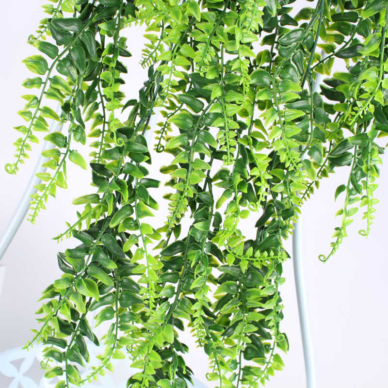 Artificial Flower Fern Vine Rattan Plant Wall Hanging Leaves Garden Home Decor