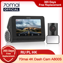 Car DVR Cam 70mai Camera Dash-Cam A800 ADAS UHD Parking-Monitior 140FOV Dual-Vision Built-In