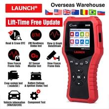 LAUNCH CR3008 obd ii code reader scanner life time free update creader 3008 obd2 diagnostic tool with batter tester function