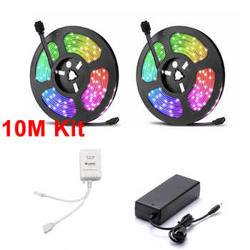 Lonsonho Tuya Zigbee Smart Led Strip RGB Strips Kit 5M 10M Wireless Remote Control Waterproof Compatible Alexa Google Home