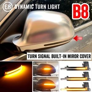 2 шт. для Audi A4 A5 S5 B8.5 RS5 RS4 динамический прокрутки светодиодный светильник с поворотным сигналом последовательный зеркальный индикатор Задне...