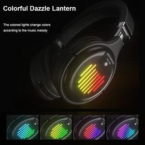 Image 5 - Fones de ouvido sem fio bluetooth com microfone fone de ouvido para jogos bluetooth 5.0 3d estéreo dobrável luz led cartão tf para celular