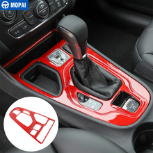 MOPAI Car Gear Shift Panel Front Storage Box Decoration Cover Stickers Interior Accessories for Jeep Cherokee 2019+