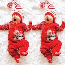 Рождественский комбинезон для младенцев мальчиков девочек; Одежда для новорожденных; рождественские детские комбинезоны; комбинезон с шапочкой; одежда для малышей; Комбинезоны для детей