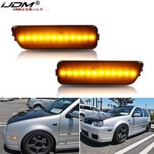 IJDM frente para lateral de parachoques marcador amarillo ámbar lámparas LED para Volkswagen MK4 Golf GTI R32 conejo Jetta(1999-2005) de luz de señal de giro