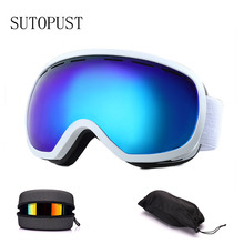 Ski Goggles Men Women Snow Ski Snowboard Mask Glasses for Skiing Equipment Double-layer UV400 Protection Anti-fog Skiing Eyewear все цены