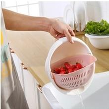Двойная корзина для слива чаши, ситечко для кухни, лапша, овощи, фрукты, подарок, бытовая корзина для слива фруктов