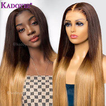 Brown Blonde Lace Front Wig Human Hair 13x4 Lace Frontal Wig Ombre 2/27 Color Brazilian Remy Hair Straight Closure Wig For Women