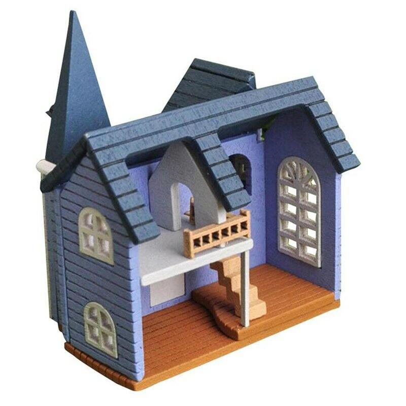 1:12 DIY Dollhouse Mini Simulation Cottage Model Miniature Wooden Dollhouse Toy Decoration Accessory Child Diy Puzzle Toy