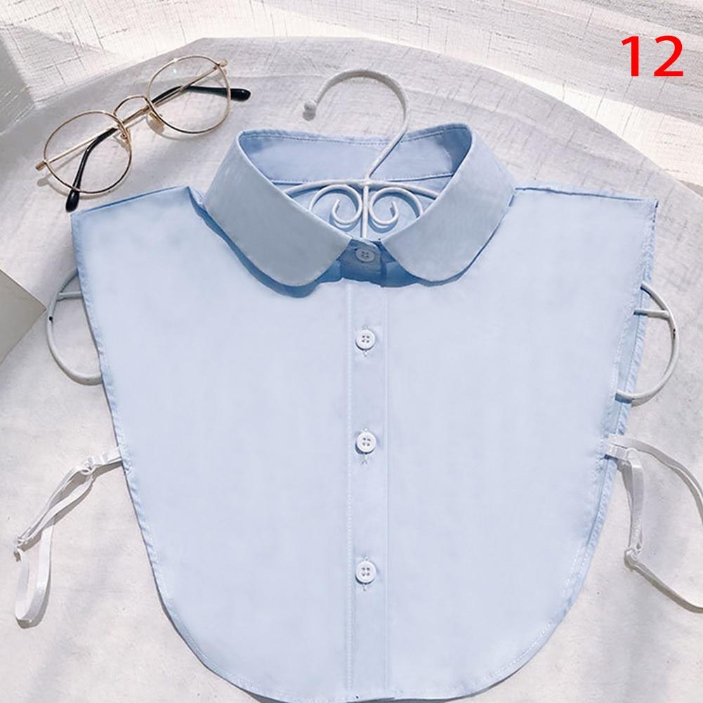 Shirt Fake Collar White Black Vintage Detachable False Collar Blouse Lapel Elastic Collar Tie For Women Girl Clothes Accessories