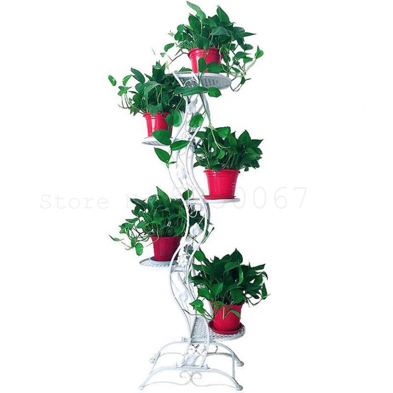 Wrought Iron Multilayer Flower Of Bracketplant Of The Other Indoor Shelf Continental Shelf Creative Sitting Room Ground Flowerpo