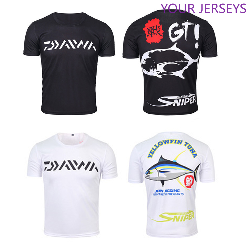 1PC Daiwa XS-5XL Summer Men Fishing T-shirt Short Sleeve Fishing Shirt Breathable Arm Sleeves Fishing Clothing Drop Shipping