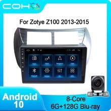 COHO – lecteur multimédia stéréo pour voiture Zotye Z100 2013 – 2015, Android 10, Octa Core 6 + 128G