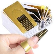 1 paquet Français Forme D'ongle Conseils Acrylique UV Gel L'extension Curl Form Builder Gel Autocollant Art Guide Moule Manucure Pochoir JINJ070-1