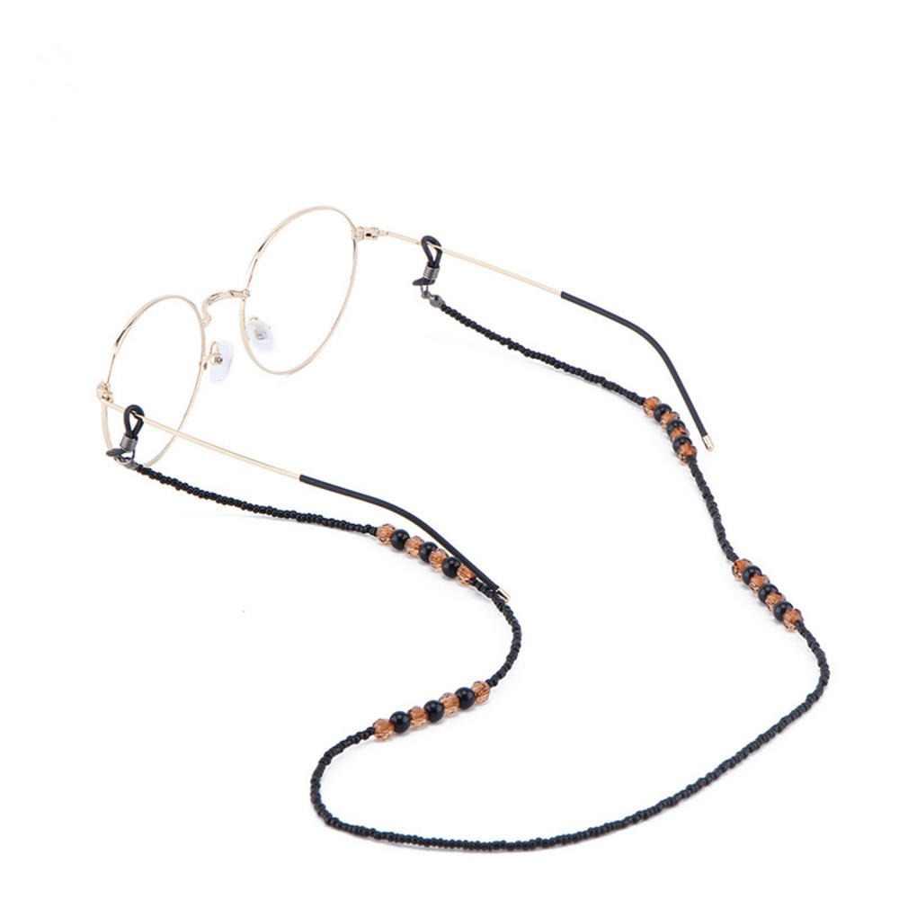 1PC Handmade Retro ลูกปัดแว่นตาโซ่สีดำและสีน้ำตาลลูกปัดแว่นตากันแดดแว่นตา Lanyard CORD ผู้ถือแว่นตาเชือกของขวัญผู้หญิง