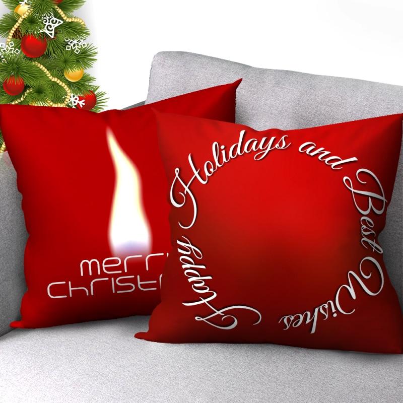Купить nanacoba красный рождественский наволочка на подушку рождество
