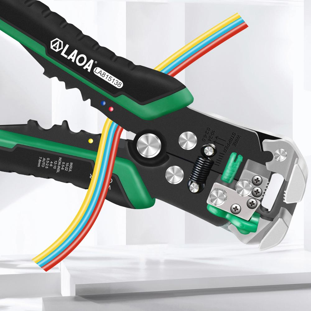 Made Taiwan Stripper Professional Electrician Wire Stripping For Tools Electrical In Cable Automatic  Crimpping Tools LAOA