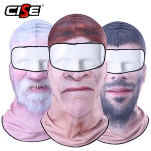 Image 1 - 3D Clown Beard Man Motorcycle Balaclava Full Face Mask Cover Helmet Liner Ski Paintball Snowboard Biker Riding Hood Men Women