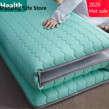 Thickness 6cm/10cm Latex Mattress Folding Mattress Memory Cotton For Queen/King /Twin/Full Size Bed Breathe Foam Tatami Mattress 10 two layers traditional firm high softness cotton mattress with 2 pillows twin size white
