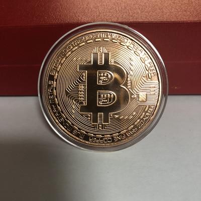 2020 Gold Plated Bitcoin Coin Collectible Art Collection Gift Physical commemorative Casascius Bit BTC Metal Antique Imitation-4