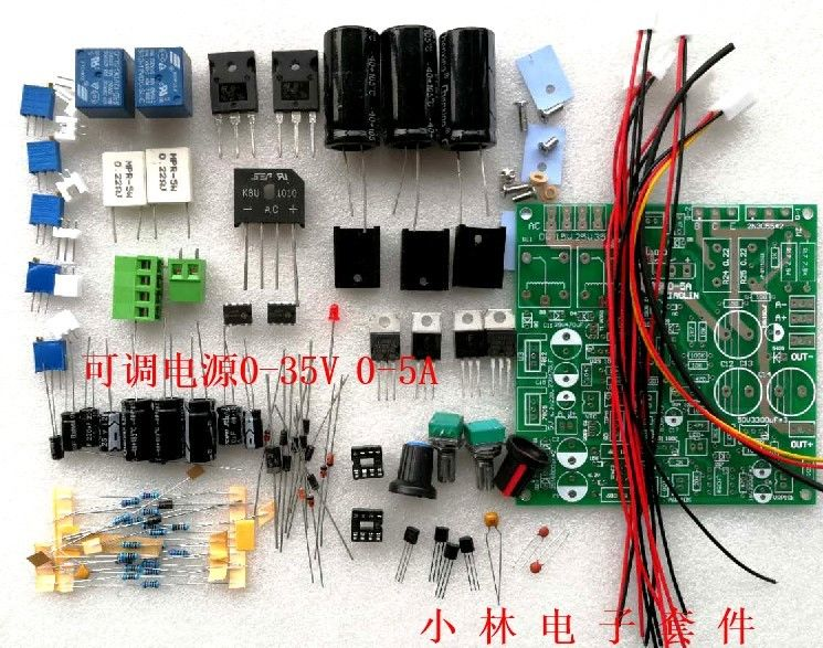 DYKB Adjustable power supply DC-DC <font><b>Voltage</b></font> <font><b>Regulated</b></font> Constant Current Power Supply Lab Diy Kit <font><b>0</b></font>-35v <font><b>0</b></font>-5a 5v 9v 12v 15v 19V <font><b>24v</b></font> image