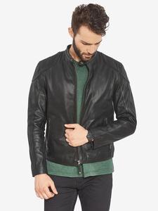 Image 3 - VAINAS avrupa marka erkek Premium Buffalo deri ceket erkekler kış gerçek deri motosiklet ceketler Biker ceketler ROMEO