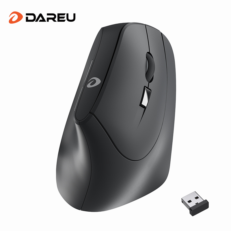 DAREU LM108G 2.4Ghz Wireless Vertical Mouse 6 button 1600 DPI Ergonomic skin type Mice For PC Laptop Computer OfficeMice   -