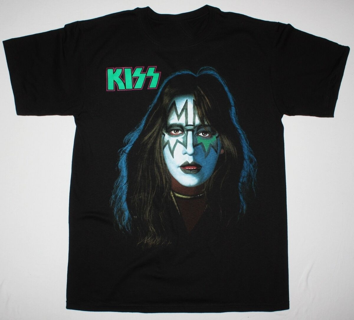 KISS ACE FREHLEY BLACK <font><b>T</b></font> <font><b>SHIRT</b></font> HARD ROCK VINNIE NT INVASION <font><b>RATT</b></font> <font><b>Men</b></font> Women Unisex Fashion tshirt Free Shipping image