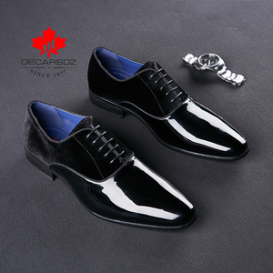 Image 5 - DECARSDZ Men Dress Shoes Men Wedding Fashion Office Footwear High Quality Patent Leather Comfy Men Formal Shoes Brand Men Shoes