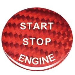 Naklejki z włókna węglowego przycisk uruchamiający/wyłączający silnik samochodu ozdobny guzik pokrowiec na bmw E90 E46 E39 E36 E60 F30 F10 E87 E53 E70 G30 X5 serii 5 ST w Naklejki samochodowe od Samochody i motocykle na