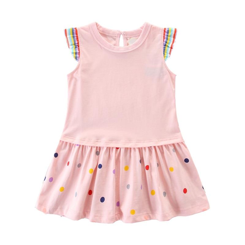 2-7T Princess Floral Baby Girls Dresses Sleeveless party wear cotton summer children dresses fashion new designs kids dresses 9
