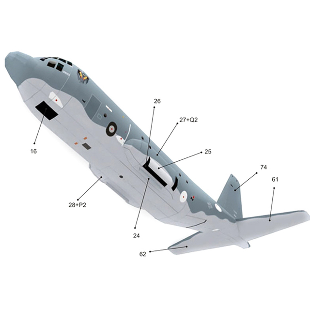 High Quality AC130 Ghost Aerial Gunship Aircraft Paper Model Military Fighter Paper Model 4